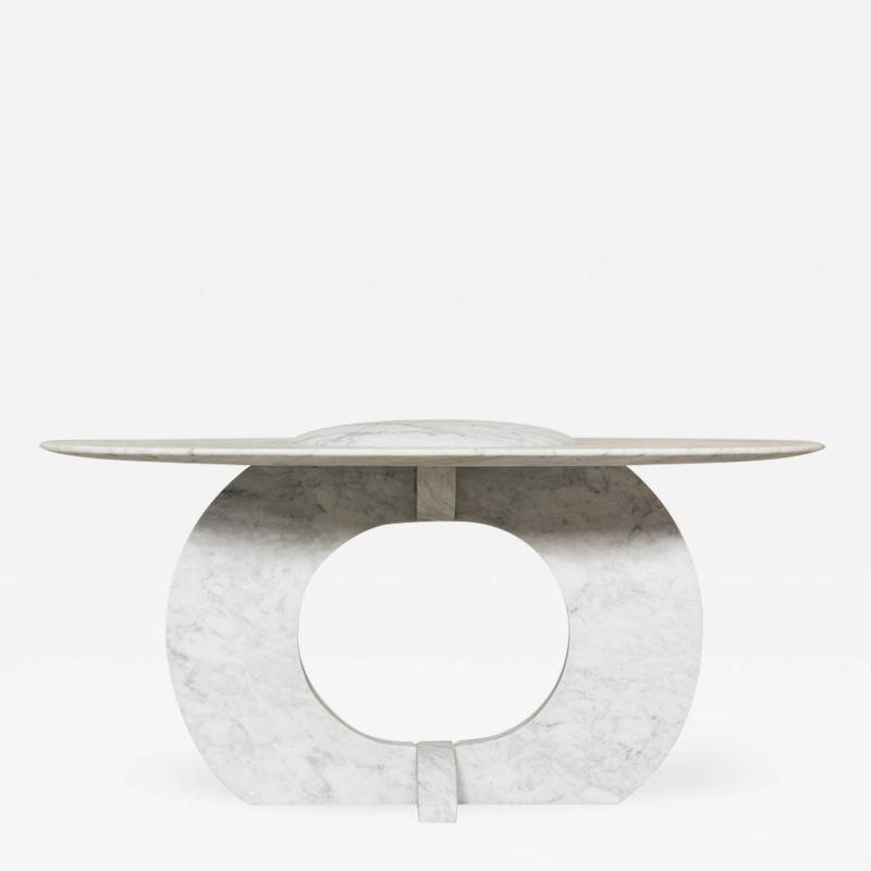 Will West Unique Carrara Marble Coffee Table