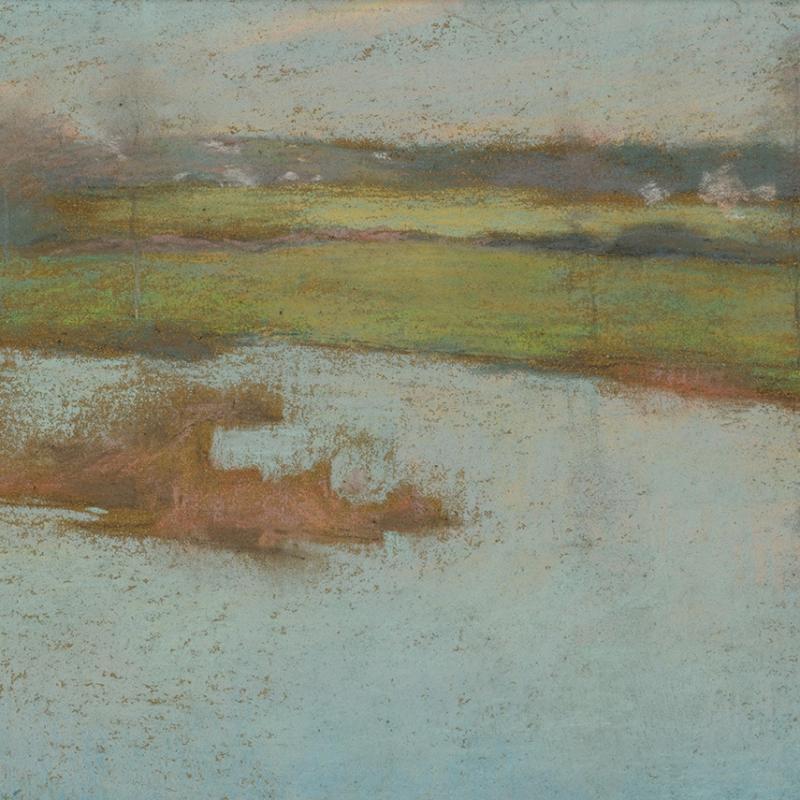 Willard Leroy Metcalf Grez View of a Village 1885