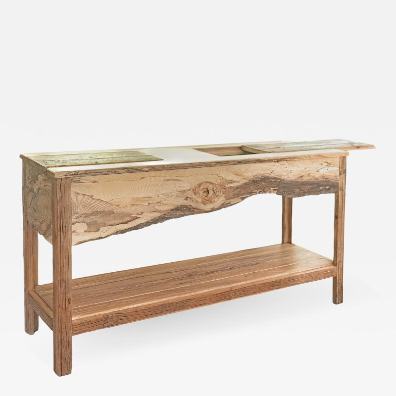 William Alburger Landscape Bespoke Console Table Sofa Entry Wood Eco Sculpture