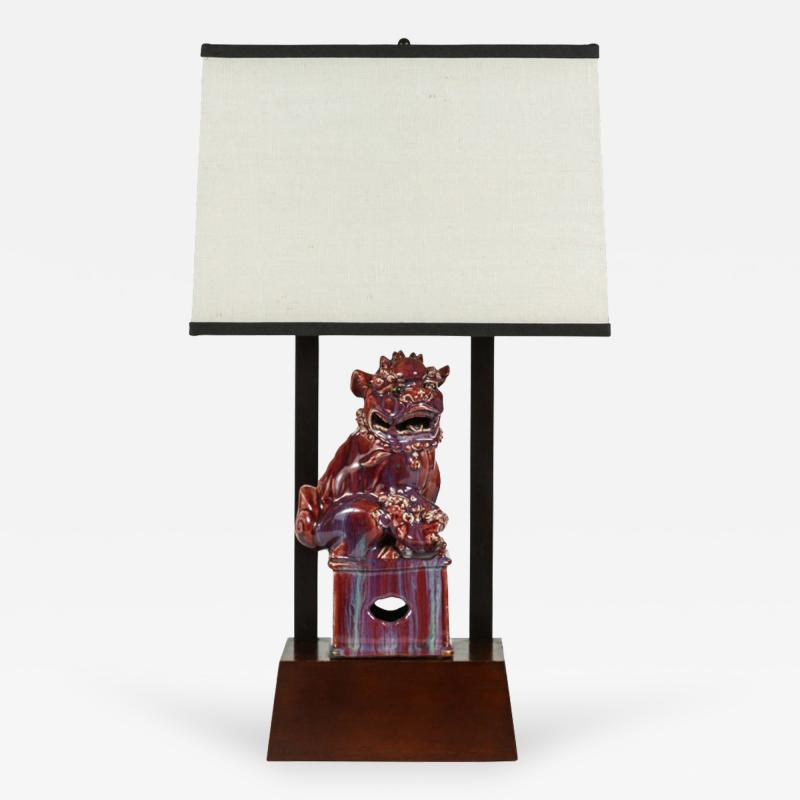 William Billy Haines Armature Lamp Featuring a Chinese Foo Dog by William Haines