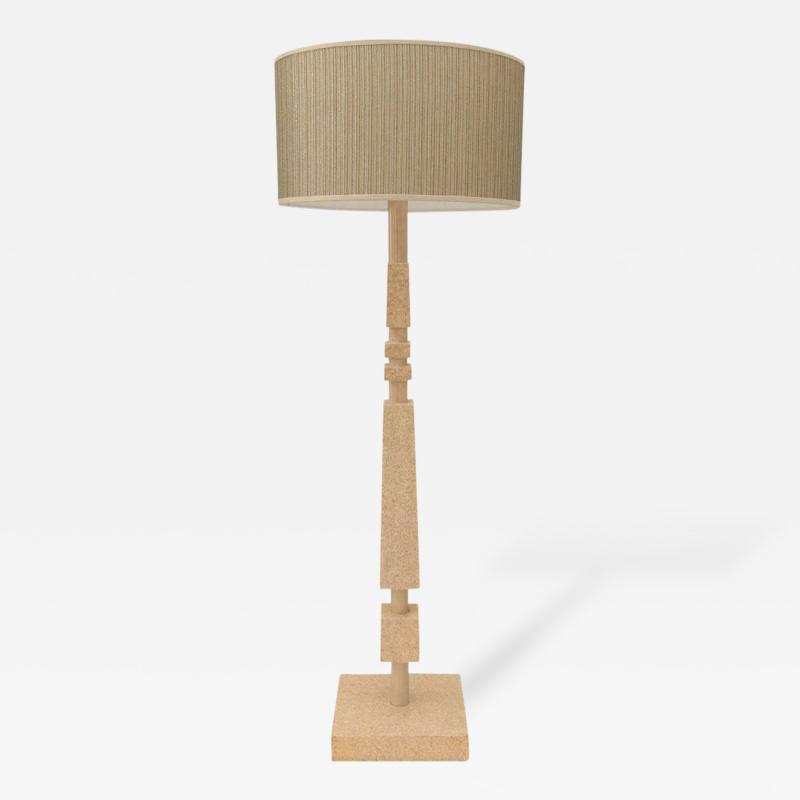 William Billy Haines Cork Veneered Floor Lamp by William Haines