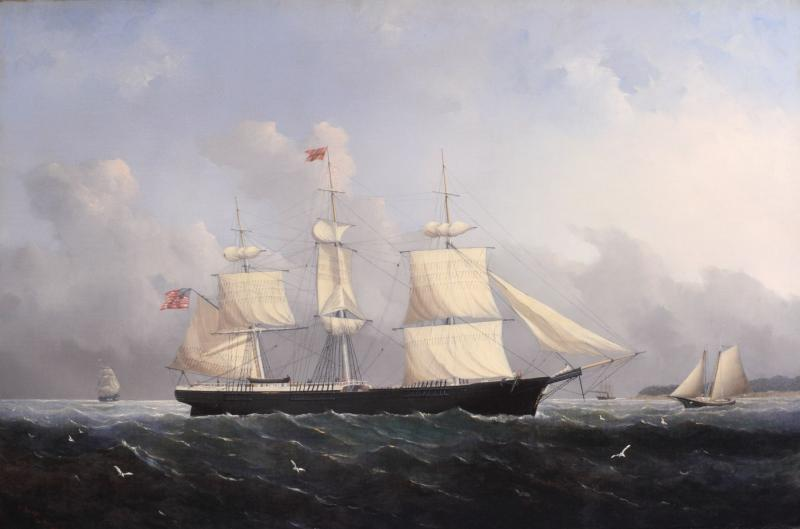 William Bradford Ship Harry Bluff by William Bradford