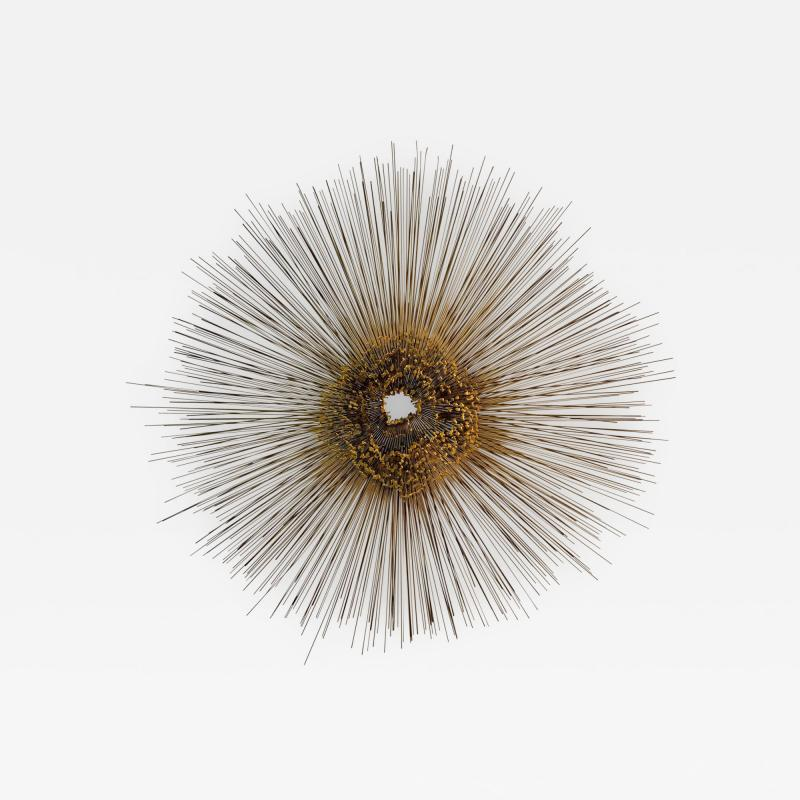 William Friedle Large Metal Sunburst Wall Sculpture by Friedle