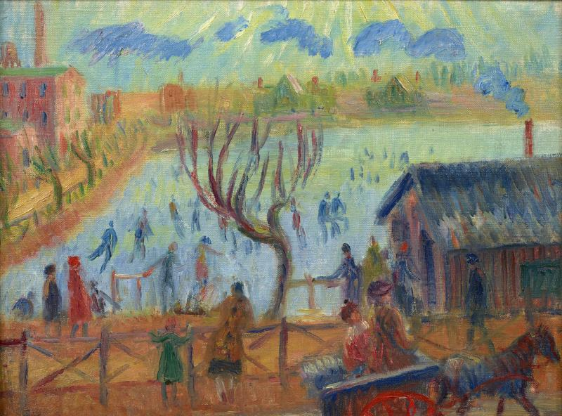 William Glackens Skaters at Lakewood New Jersey