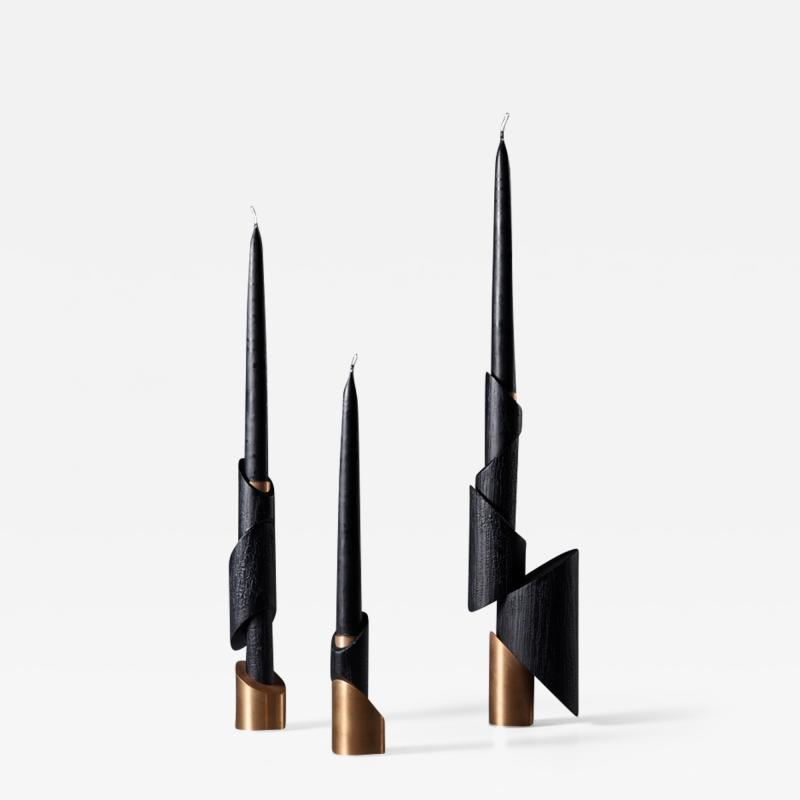 William Guillon ASHES TO ASHES SET N 4 Three Candlesticks