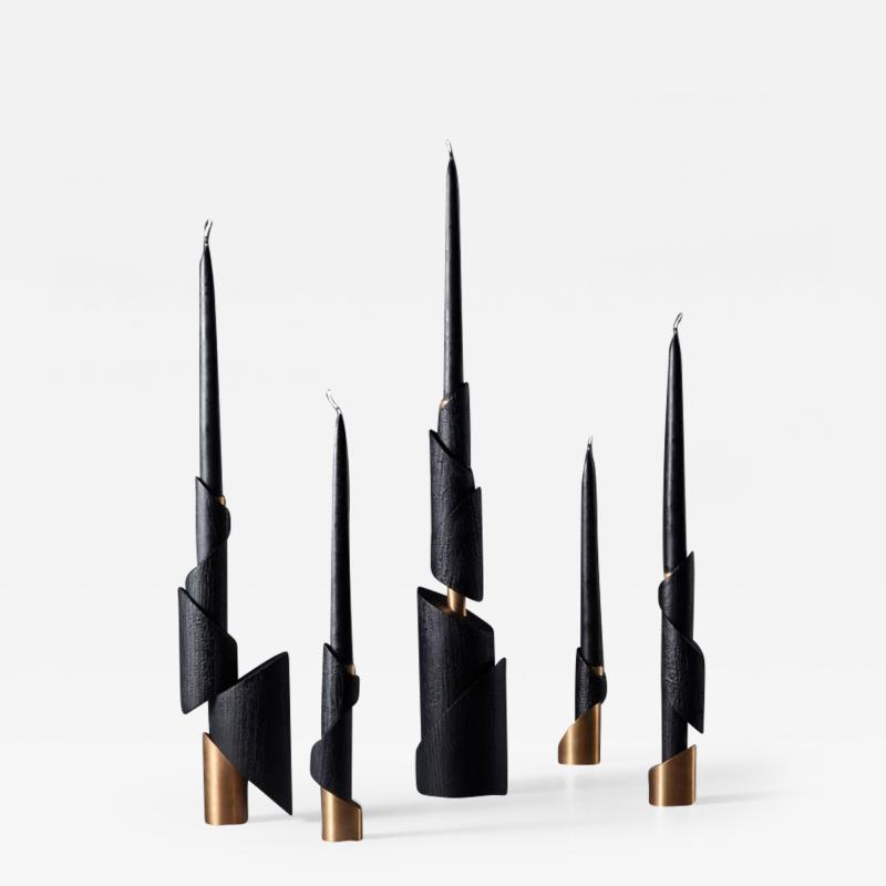 William Guillon ASHES TO ASHES SET N 5 Five Candlesticks