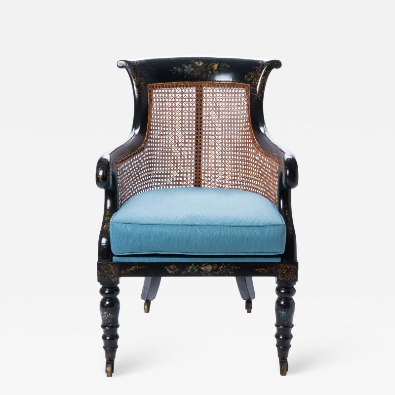 William IV mahogany frame gondola chair