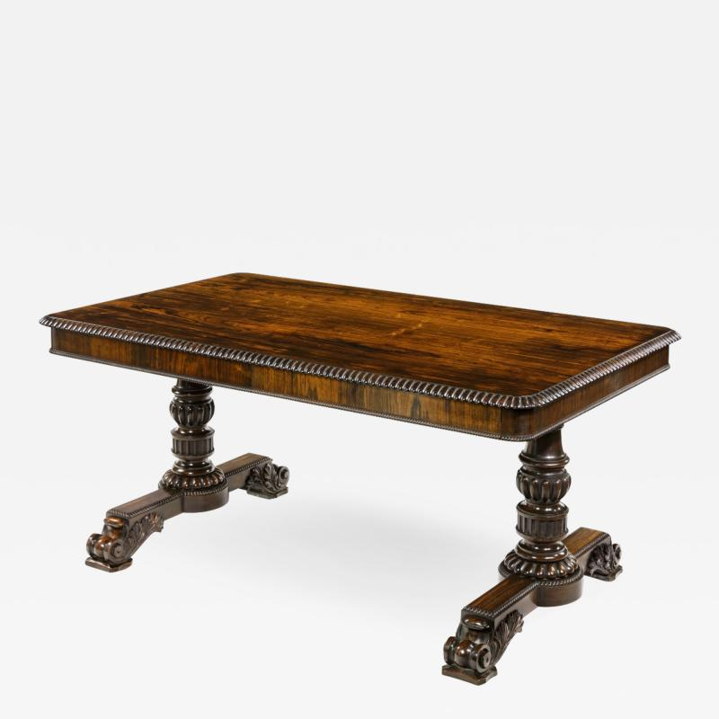 William IV rosewood partners library table by Gillows
