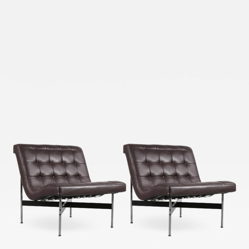 William Katavolos Pair of William Katavolos Lounge Chairs for ICF Milano Italy 1990