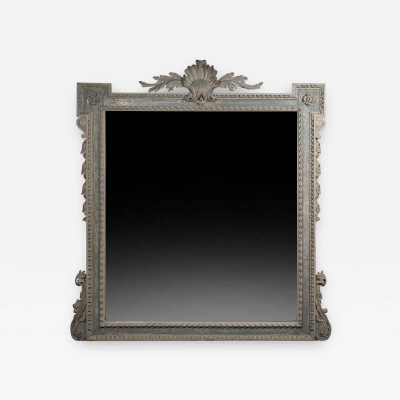 William Kent Antique Painted Palladian Overmantel Mirror