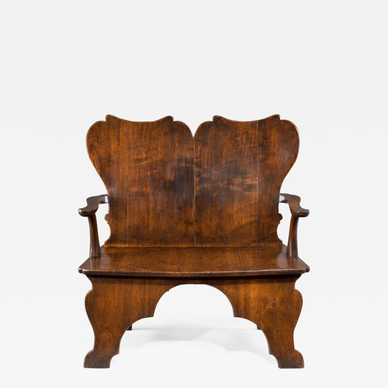 William Kent Rare Mahogany Settee Bench of the William Kent Period