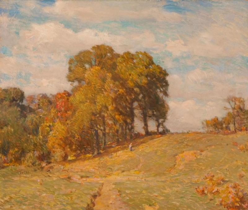 William Langson Lathrop White Oaks and Persimmon Trees