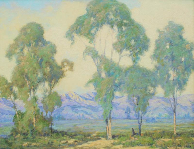 William Louis Otte Santa Barbara Foothills with Eucalyptus