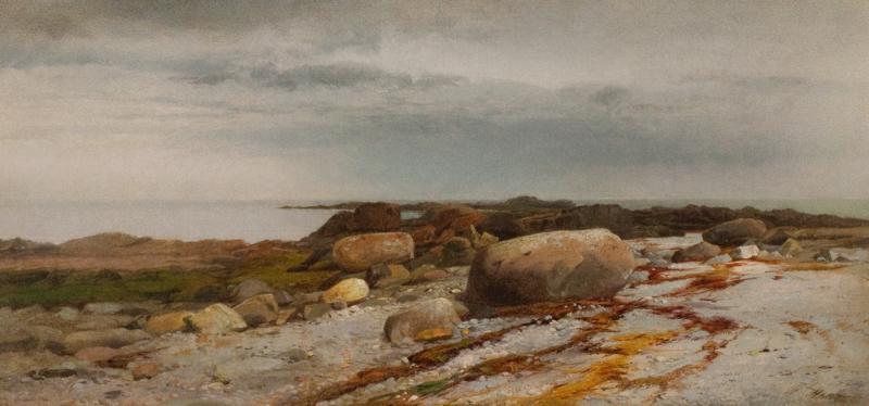 William M Hart Rocky Seascape