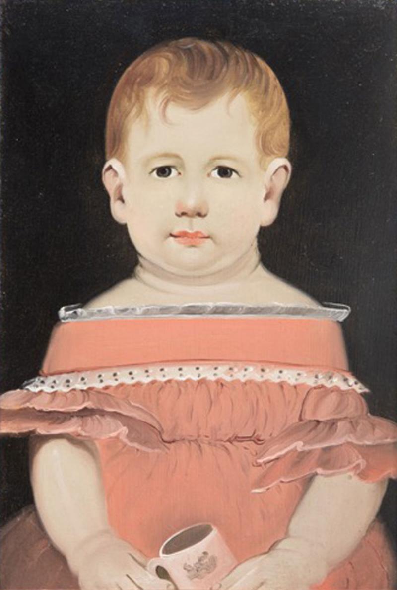 William Matthew Prior Prior Portrait of Child with Mug