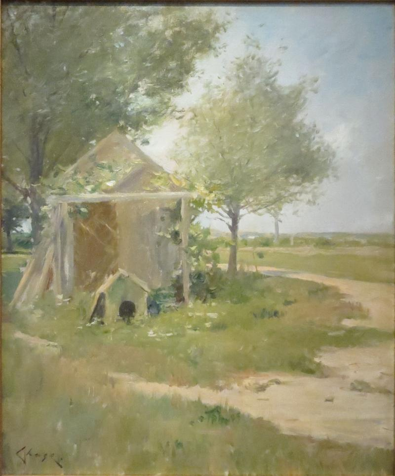 William Merritt Chase The Backyards Shinnecock