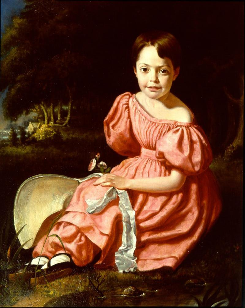 William Page Young Girl in Pink