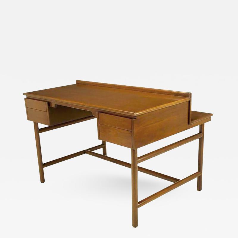 William Pahlmann William Pahlmann Four Drawer Walnut Desk with Integral Bookshelf