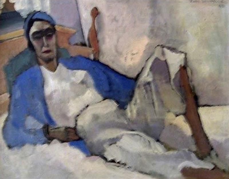 William Ross Shattuck Figural Expressionist Painting by Ross Shattuck