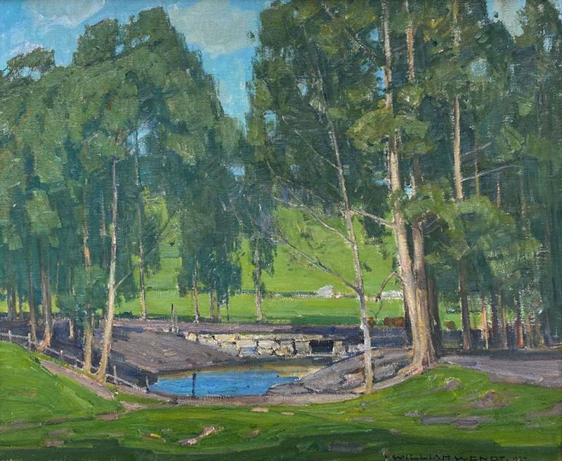 William Wendt Green Pastures and Pond