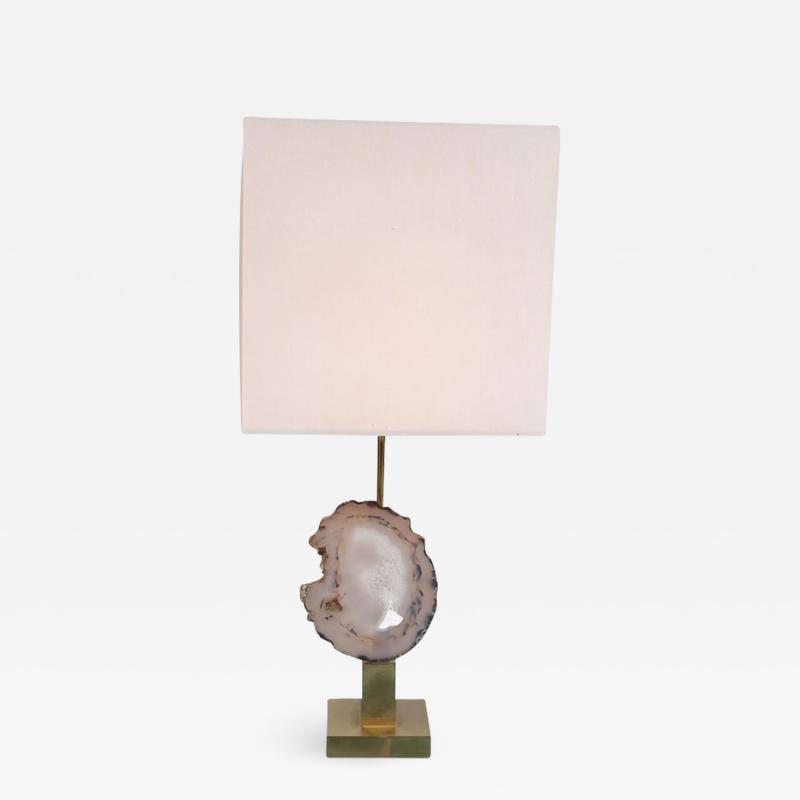 Willy Daro Agate Table Lamp in the Manner of Willy Daro circa 1970