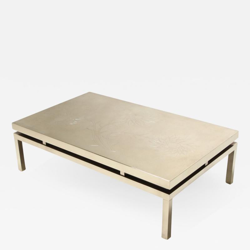 Willy Daro Willy Daro Signed High End Brass Coffee Table 1970s