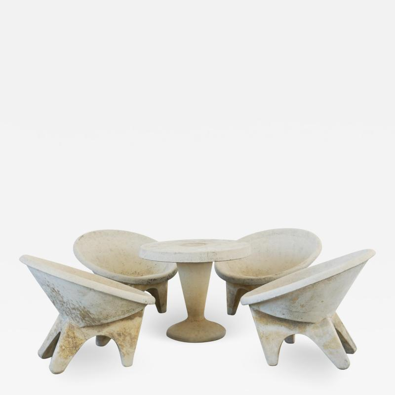 Willy Guhl ITALIAN SCULPTURAL CONCRETE CHAIRS