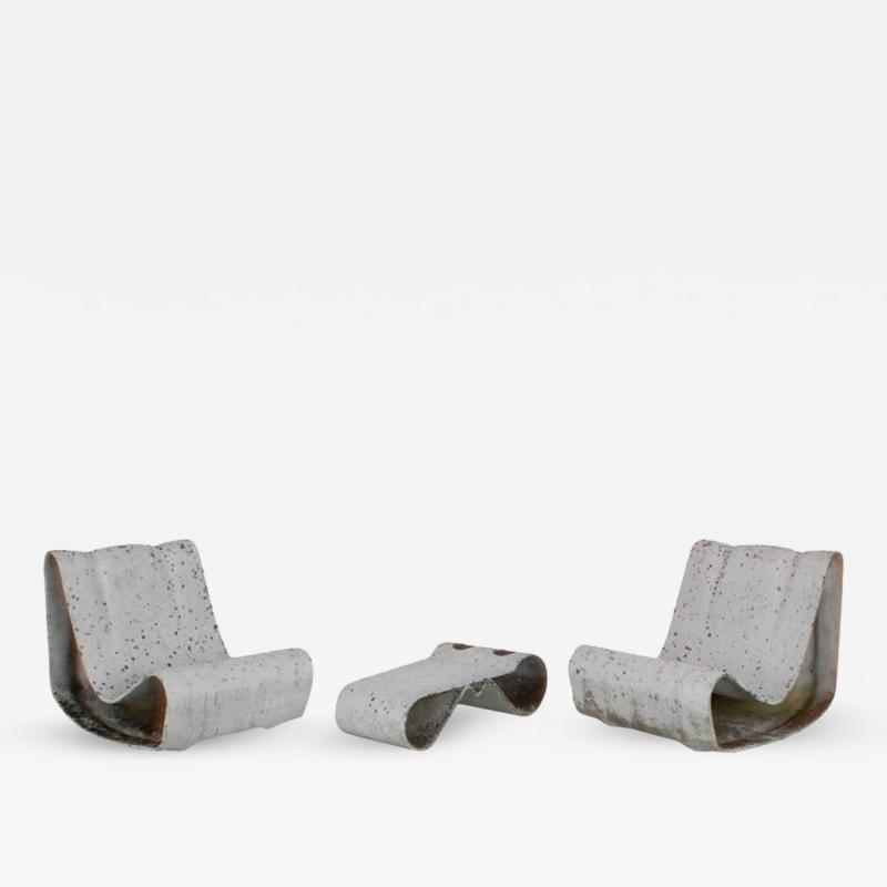 Willy Guhl Willy Guhl Loop Chairs and Table