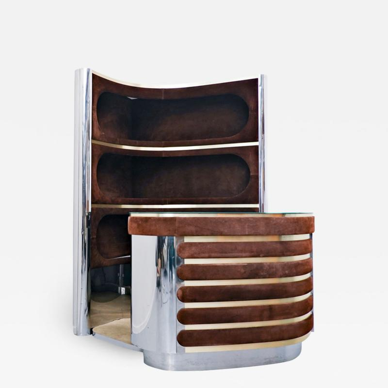 Willy Rizzo Bar Cabinet By Willy Rizzo Italy 1970s