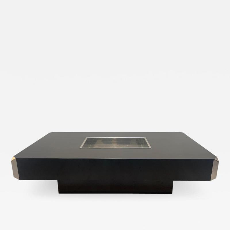 Willy Rizzo Coffee Sofa Table Alveo by Willy Rizzo for Mario Sabot Italy 1970s