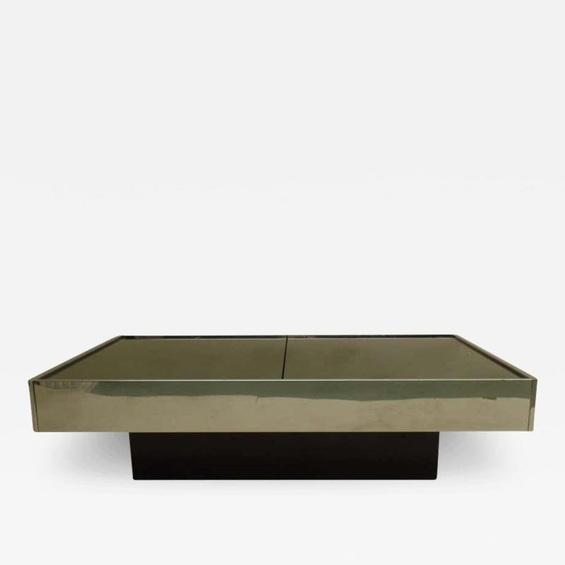 Willy Rizzo Expandable Italian Mid Century Modern Coffee Table by Willy Rizzo for Cidue 1970