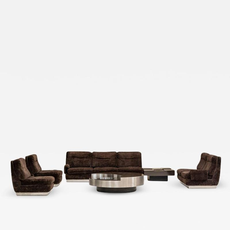 Willy Rizzo Living Room Set Two Sofas Two Armchairs and One Coffee Table