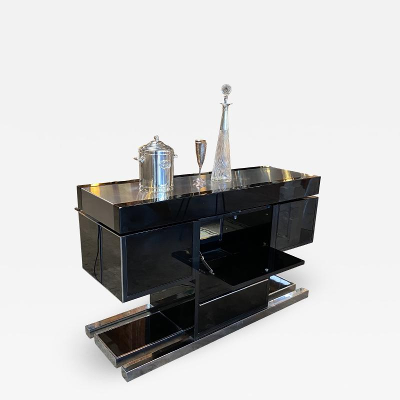 Willy Rizzo Mid Century Modern Italian Dry Bar by Willy Rizzo 1970s