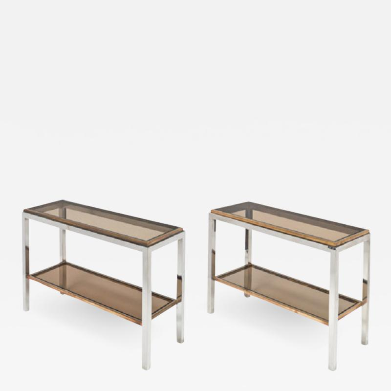 Willy Rizzo Pair of Console Tables by Willy Rizzo