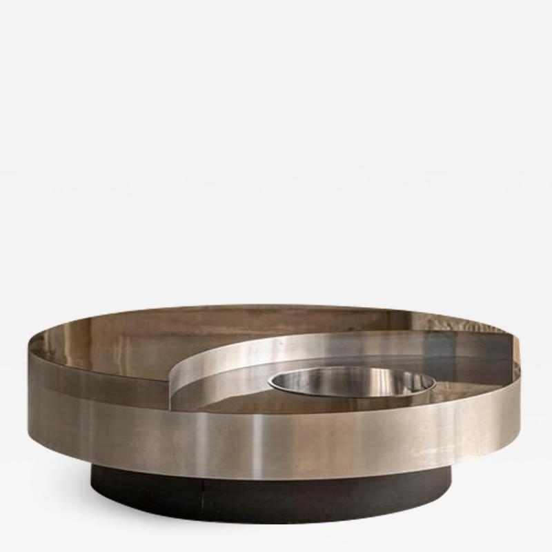 Willy Rizzo Willy Rizzo Revolving Coffee Table