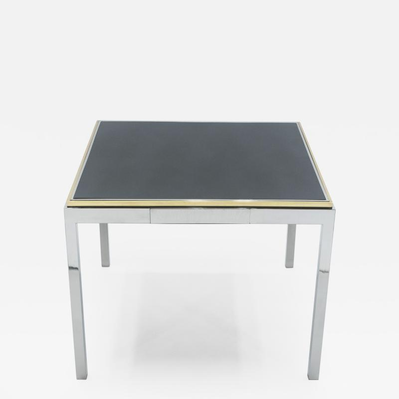 Willy Rizzo Willy Rizzo lacquered chrome brass Flaminia game table 1970s