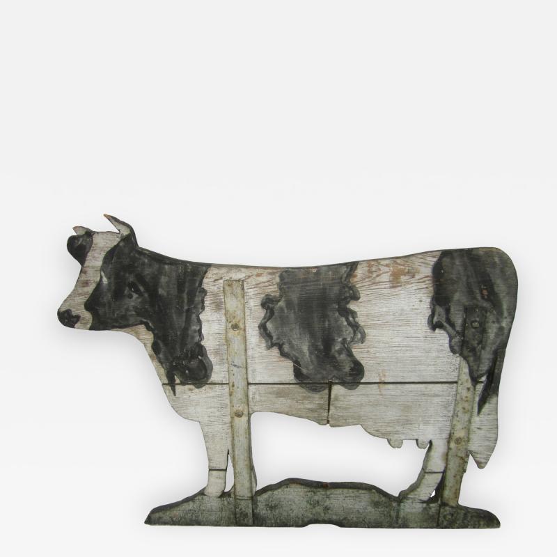 Wood Cow Weathervane