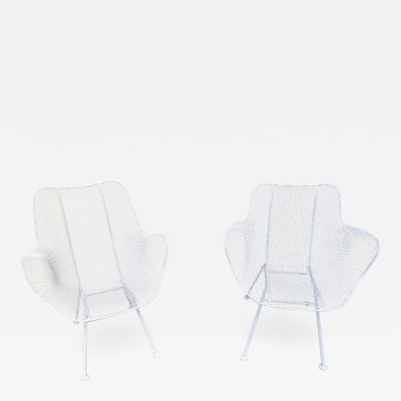 Woodard Furniture Pair of White Patio Chairs
