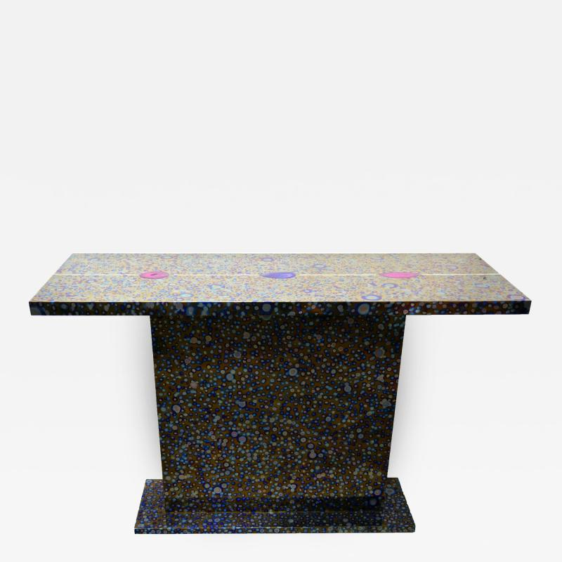 Xavier Mennessier Cosmos Console Table in Titanium by Xavier Mennessier