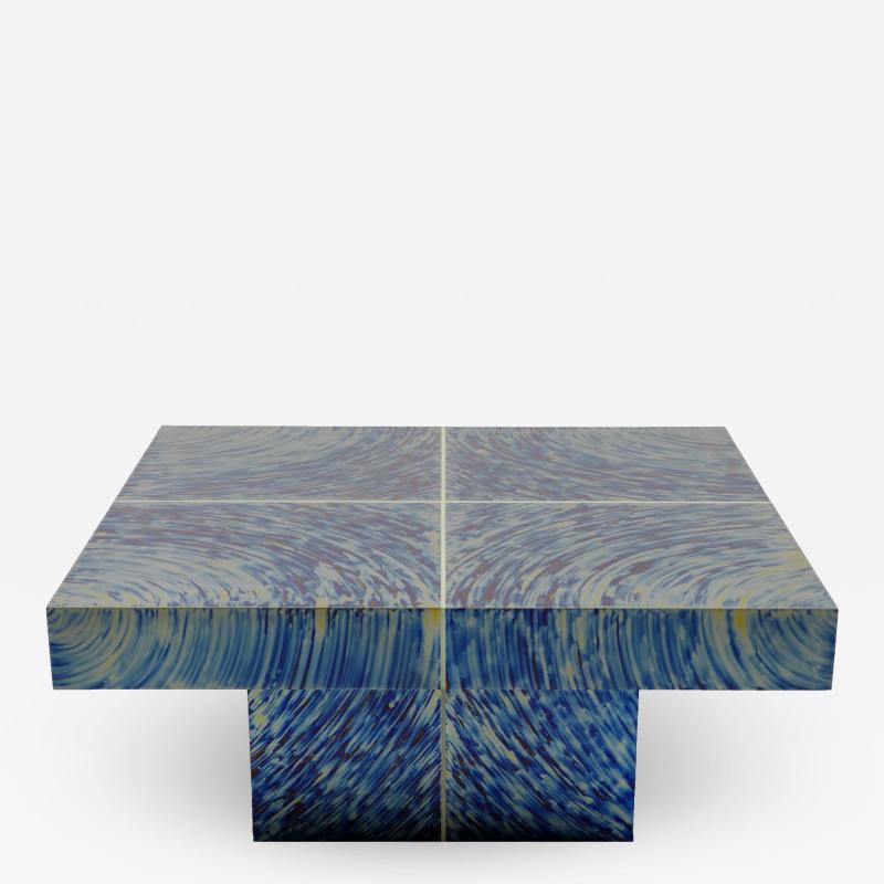 Xavier Mennessier Hypnose Coffee Table in Titanium by Xavier Mennessier