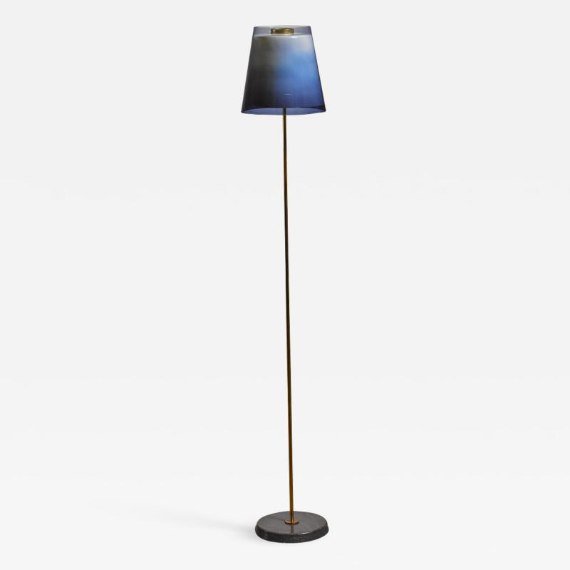 Yki Nummi Yki Nummi floor lamp with two layered shade for Orno Finland 1960s