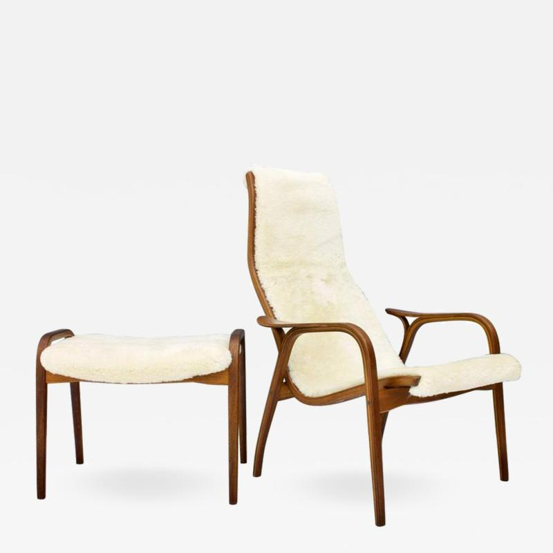 Yngve Ekstr m Lamino Lounge Chair with Stool Swedese 1956