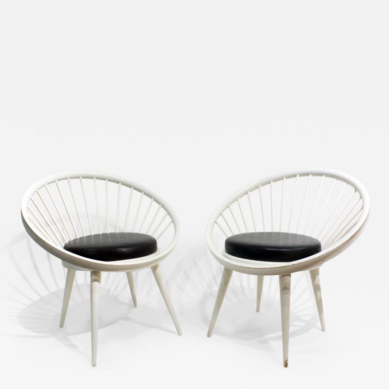 Yngve Ekstr m Pair of Round Chair by Yngve Ekstrom 1960