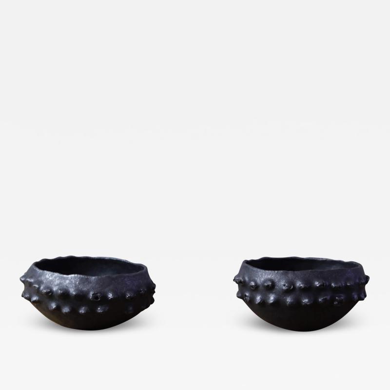 Young Mi Kim Small Black glazed bowls by Young Mi Kim