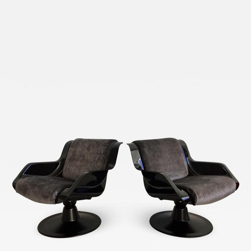 Yrjo Kukkapuro Pair of Yrjo Kukkapuro Swivel Lounge Chairs Model 3814 1KF