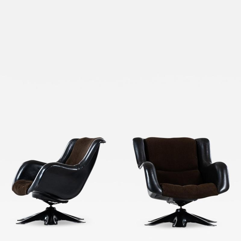 Yrjo Kukkapuro Yrj Kukkapuro Easy Chairs Model 418 Produced by Haimi in Finland