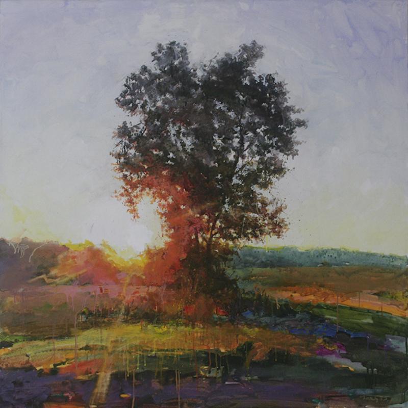 Yury Darashkevitch Sun Catcher Landscape With Tree