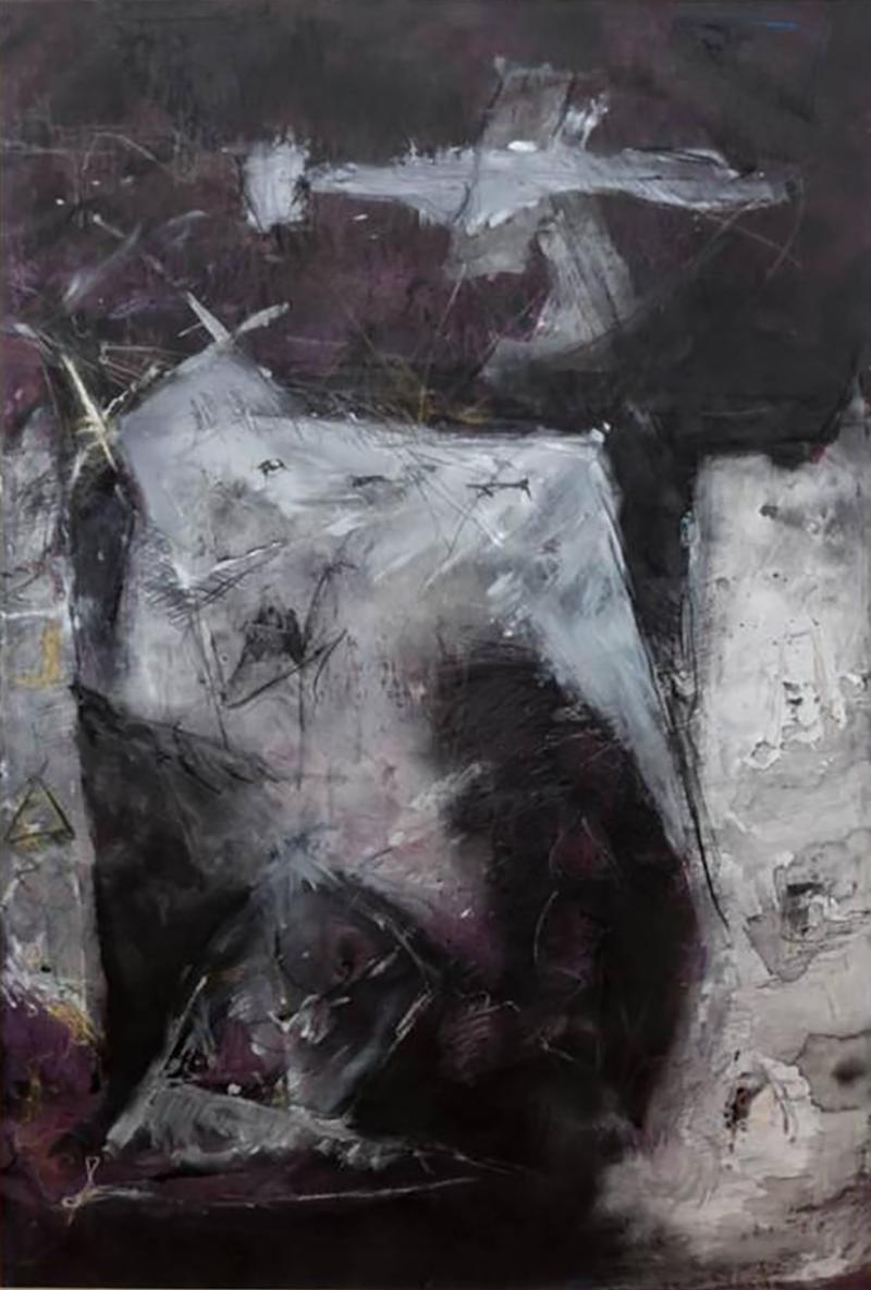 Yves Alcais Untitled Oil on Canvas by Yves Alcais