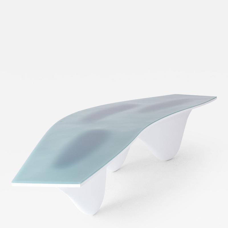 Zaha Hadid Aqua Table Limited Edition Turquoise Silicone Top