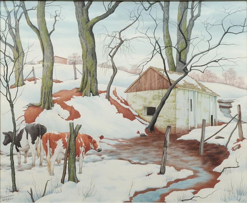 Zama Vanessa Helder Red Earth and Spotted Cows